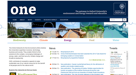 Oxford Networks for the Environment (ONE)