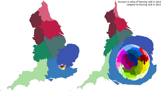 Show Map Of England.New Londonmapper Site Shows That The Value Of Housing Sales In