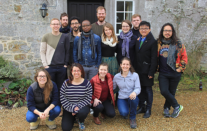 Students on the writing retreat
